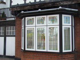 Coloured Upvc Door Window Frames Double Glazed Mahogany